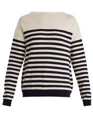 Mih Jeans Margot Striped Wool Sweater Cream Navy