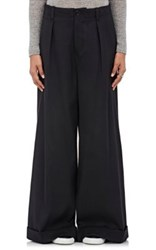 Tomorrowland Women's Plain Weave Wide Leg Trousers Black