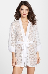 In Bloom By Jonquil 'Natalie' Stretch Lace Robe White