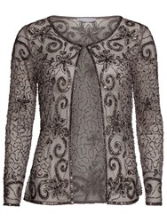 Gina Bacconi Bead And Sequin Jacket Pewter