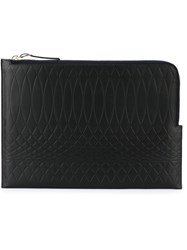 Paul Smith Embossed Zip Pouch Black