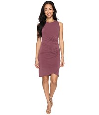 Culture Phit Cheyenne Sleeveless Dress With Ruched Side Merlot Women's Dress Red