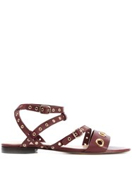 Tila March Monica Flat Sandals Red