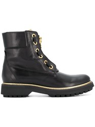 Geox Lace Up Ankle Boots Black