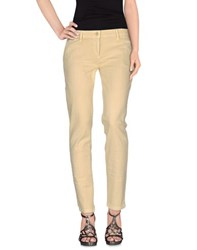 Shaft Denim Denim Trousers Women Light Yellow