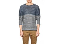 Inis Meain Striped Purl Stitched Linen Sweater