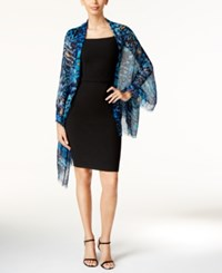 Inc International Concepts Printed Peacock Wrap Only At Macy's Navy