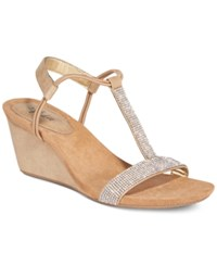 Styleandco. Style Co. Mulan 2 Embellished Evening Wedge Sandals Only At Macy's Women's Shoes Dark Sand