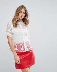 Traffic People Embroidered Shirt Gold