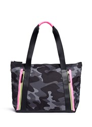 Monreal London 'Victory' Camouflage And Neon Tote Bag Multi Colour
