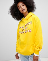 Adolescent Clothing Mind Your Own Business Hoodie Yellow