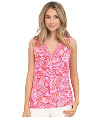Lilly Pulitzer Essie Top Pink Pout Mango Salsa Women's Sleeveless