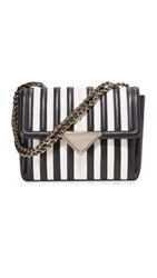 Sara Battaglia Elizabeth Shoulder Bag Black White