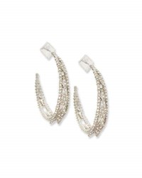 Alexis Bittar Crystal Lattice Hoop Earrings