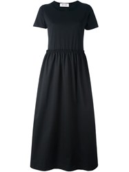 Jimi Roos 'Collar' Short Sleeve Dress Black