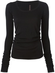 Rick Owens Lilies Scoop Neck Sweater Black