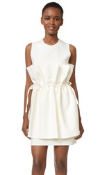 Msgm Sleeveless Dress With Ties Ivory
