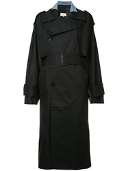 Maison Martin Margiela Oversized Trench Coat Black