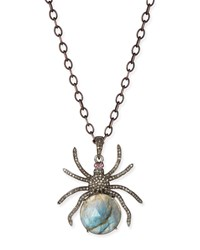 Diamond Labradorite Spider Pendant Necklace Siena Jewelry Red