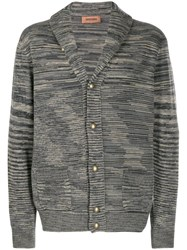 Missoni Striped Button Up Cardigan Grey
