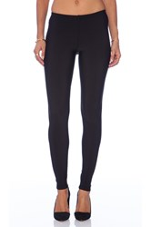 Plush Matte Spandex Fleece Lined Legging Black
