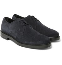 Tod's Suede Derby Shoes Blue