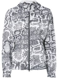 Adidas By Stella Mccartney Run Printed Jacket Polyester Black
