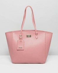 Marc B Large Semi Structured Pink Shopper With Zip