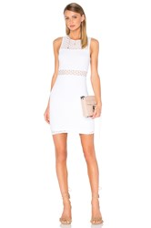 Eight Sixty Sleeveless Eyelet Mini Dress White
