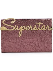 Charlotte Olympia 'Superstar Vanity' Clutch Pink And Purple
