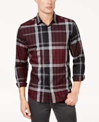 Alfani Men's Conway Plaid Shirt Created For Macy's Port