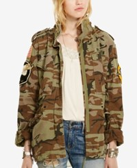Denim And Supply Ralph Lauren Camo Patch Field Jacket Multi