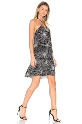 Diane Von Furstenberg Serana Dress Black And White