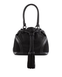 French Connection Heidi Faux Leather Bucket Bag Black