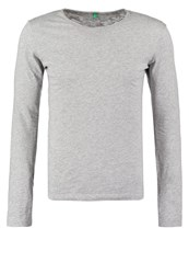 United Colors Of Benetton Long Sleeved Top Grey Melange Mottled Grey
