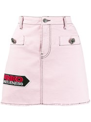 Pinko Denim Mini Skirt Pink