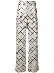 Genny Geometric Printed Trousers Neutrals