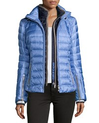 Bogner Reo Kylie Two Layer Puffer Coat Peri Navy