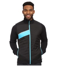 Pearl Izumi Flash Insulator Run Jacket Black Blue Atoll Men's Workout Multi