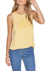 Amuse Society Women's Backstage Graphic Tank Vintage Gold