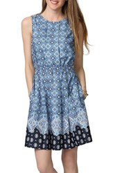 Donna Morgan Women's Border Print Fit And Flare Dress