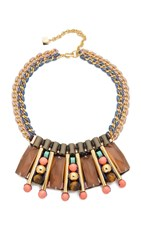 Nocturne Emma Necklace Coral Multi