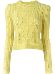 Isabel Marant Cable Knit Sweater Yellow And Orange