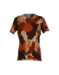 Italia Independent Topwear T Shirts Men Cocoa