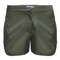 Umran Aysan Cotton Tailored Shorts Olive Green