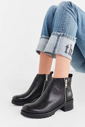Urban Outfitters Maci Zippered Ankle Boot Black