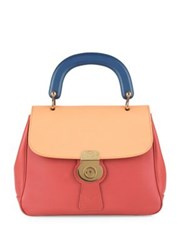 Burberry Colorblock Leather Top Handle Satchel Blossom Pink