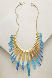 Anthropologie Galaxy Bib Necklace Gold