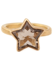 Marie Helene De Taillac Smokey Quartz Star Ring Brown