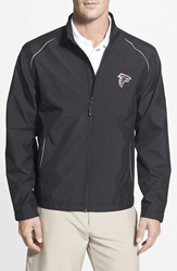Cutter Buck 'Atlanta Falcons Beacon' Weathertec Wind And Water Resistant Jacket Big And Tall Black